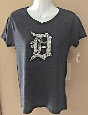 Soft as a Grape Womens Detroit Tigers V Neck Tee Shirt Size Small NWT