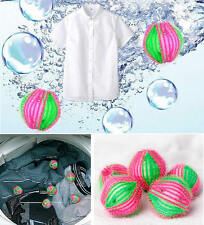 6pcs Hair Grabbing Laundry Cleaning Washing Machine Clothes Softener Ball Gadget