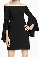 Vince Camuto Womens Dress Classic Black Size XL Off Shoulder Sheath $119 074