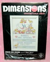 New Dimensions Babies Are Special Counted Cross Stitch Kit Duck Birth Record