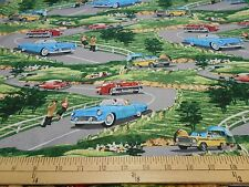 "1 yard  Windham ""Planes, Trains, and Automobiles"" Scenic Fabric"