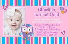 Personalised Giggle and & Hoot Hootabelle Birthday Photo Invitations invites