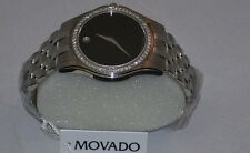 New Men's Movado corporate 0605973 0.80ct.apx.custom set real  Diamond Watch