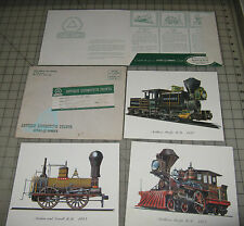 1958 Cities Service Station ANTIQUE LOCOMOTIVE PRINTS Package Set with 3 Prints