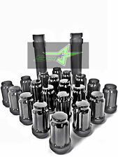 16 EZ-GO CLUB CAR GOLF CART BLACK SPLINE LUG NUTS + 2 KEYS | 1/2X20 4 GOLF CARTS