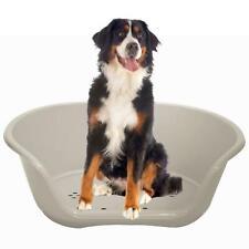 Grey Plastic Pet Bed Heavy Duty Waterproof Cat Dog Basket Large Comfortable