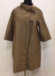 Authentic Moschino Gold Long Overcoat NWD