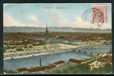 """Italie - Oblitération Ambulant """" Torino / Modane """"sur carte postale en 1912 D 45"""