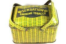 RARE Sensation Smoking Tobacco Picnic Style Lunch Box Tin.....P. Lorillard Co.