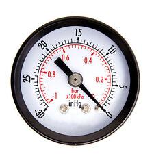 1/2inch Dry Utility Vacuum Pressure Gauge Steel 1/8inch Center Back-30HG/0PSI L