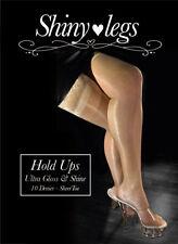 Shinylegs Shiny Glossy Hold Ups Calze Autoreggenti Lucide Sexy Velate 10 Den