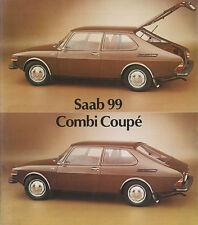 1972 SAAB 99 COMBI COUPE BROCHURE PROSPEKT CATALOGUE DEPLIANT ENGLISCH