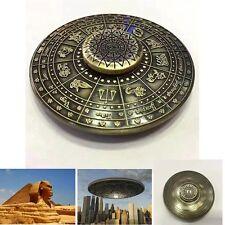 Retro Egypt 12Constellations Alloy Hand Finger Spinner Fidget EDC Focus Gyro UFO