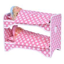 18 inch 2 Dolls Pink Travel Carrier Case Bed Bedding Girls Birthday Gift Blond