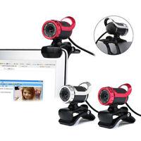 USB 2.0 Webcam HD Con Microfono Stereo Riduzione Per Chat PC Computer Portatile