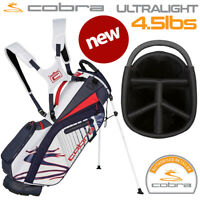 Cobra Ultralight Golf Stand Bag (4.5 lbs) 5-WAY Top Navy/Red/White - NEW! 2020
