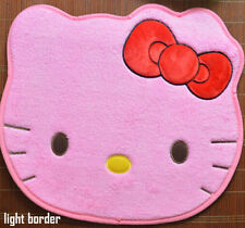 Cute Hello Kitty Big Bow Floor Mat Rug Plush Door Mat Dark Pink 1PC