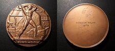 """Médaille art déco """"La Pierre"""" signée Georges Ridet"""