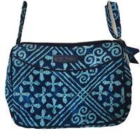 Vera Bradley Cuban Tiles Vivian Small Crossbody Bag Turquoise Blue Purse