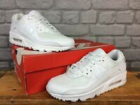 NIKE LADIES AIR MAX 90 WHITE TWIST LEATHER MESH TRAINERS RRP £115 VARIOUS SIZES