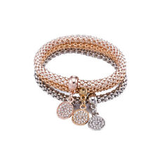 14k Rose Gold Plated Shade Swarovski Stretch Crystal Bangles