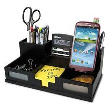 Victor Technology Midnight Black Desk Organizer With Smartphone Holder - 95255