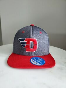 Top of the World - Dayton Flyers Hat - Grey fitted red  Dayton Ohio
