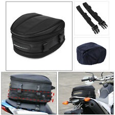 1X Motorcycle Rear Tail Seat Bag Shoulder Carry Bag With Cover Waterproof oxford