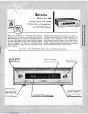Sherwood S-2100 Tuner Owners Instruction Manual