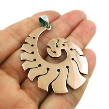 Large 925 Silver and Copper Swirl Pendant