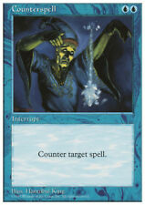 4X Counterspell LP Core Set 5th Edition  MTG Blue Common + FREE TOKEN
