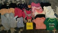 Girls Clothes Newborn - Spring/Fall - Mixed Lot of 18 Pieces #144