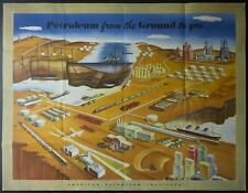 1956 American Petroleum Institute Petroleum From Ground To You Musacchia Poster