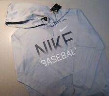 NIKE BASEBALL GRAPHIC HOODIE MEN XL 880888-012 GRAY NWT DRI-FIT PULL OVER