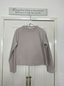 Sunspel Top Fits UK 12 Dusky Pink Sweatshirt Box Fit Casual Long Sleeve Relaxed