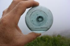 JAPANESE FISHING GLASS FLOAT MARKED #178 with WATER