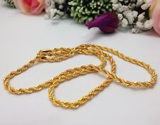 Indian Jewellery 21ct Gold Plated Neck Chain