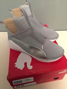 Puma Fierce Core Quarry-Puma White-P Silver Size 7.5 US -NIB