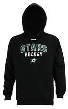 Reebok NHL Men's Dallas Stars Logo Crest Basic Pullover Fleece Hoodie
