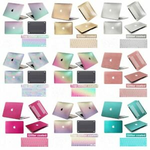 Colorful Bling Laptop Hard Glitter Case +Keyboard Cover For New Macbook Pro Air