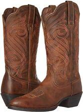 Ariat 244067 Womens Round Up R Toe Western Cowboy Boot Dark Toffee Size 8.5 B