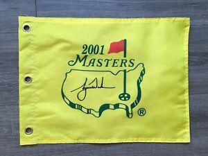 "2001 Masters Souvenir Flag w/Tiger Woods ""Tiger Slam "" PGA PRE ORDER NOW"