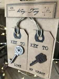Key To Love & Key To My Happiness Gift Tags by Heaven Sends