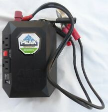 Peak PKC0M04 Black 400W Mobile 12VDC to 120VAC Power Outlet with 2.1 USB