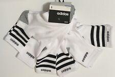 Adidas Men's Cushioned 6-Pair Quarter Crew Socks White with Black & Gray