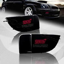 For 2004-2005 Subaru Impreza WRX STi Black Fog Light Lamp Bumper Bezel Cover Cap