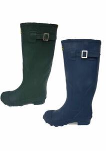 LADIES GIRLS GREEN   Wellies Winter Rain Snow Wellington NAVY  Boots Shoes Size