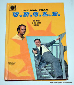 1966 Whitman TV HC Book The Man From UNCLE Affair of the Gentle Saboteur VF-NM!