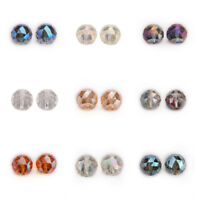 5Pcs 20mm Faceted Glass Crystal Round Loose Spacer Beads DIY Craft Finding
