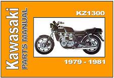KAWASAKI Parts Manual KZ1300 Z1300 1979 1980 1981 KZ1300-A1 KZ1300-A2 KZ1300-A3